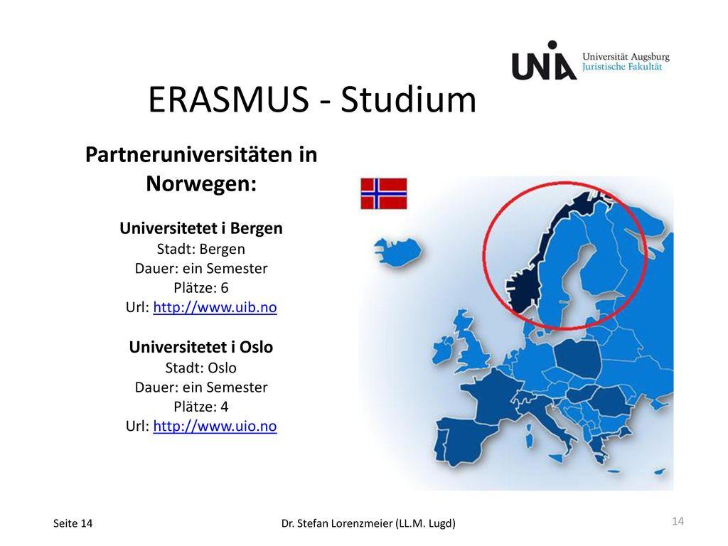Partneruniversitäten in Norwegen: Universitetet i Bergen