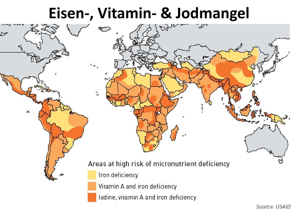Eisen-, Vitamin- & Jodmangel