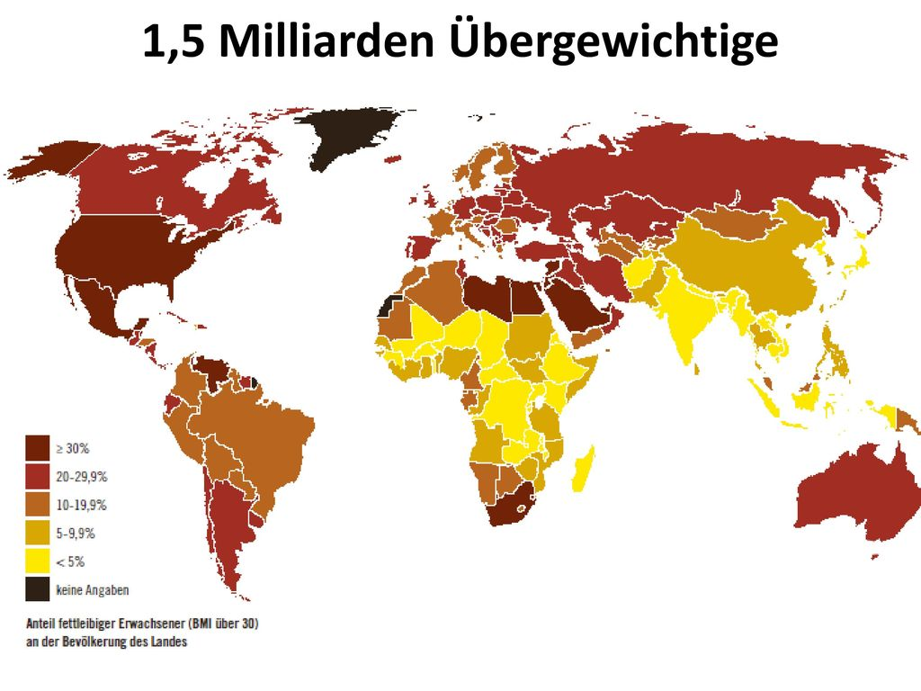 1,5 Milliarden Übergewichtige