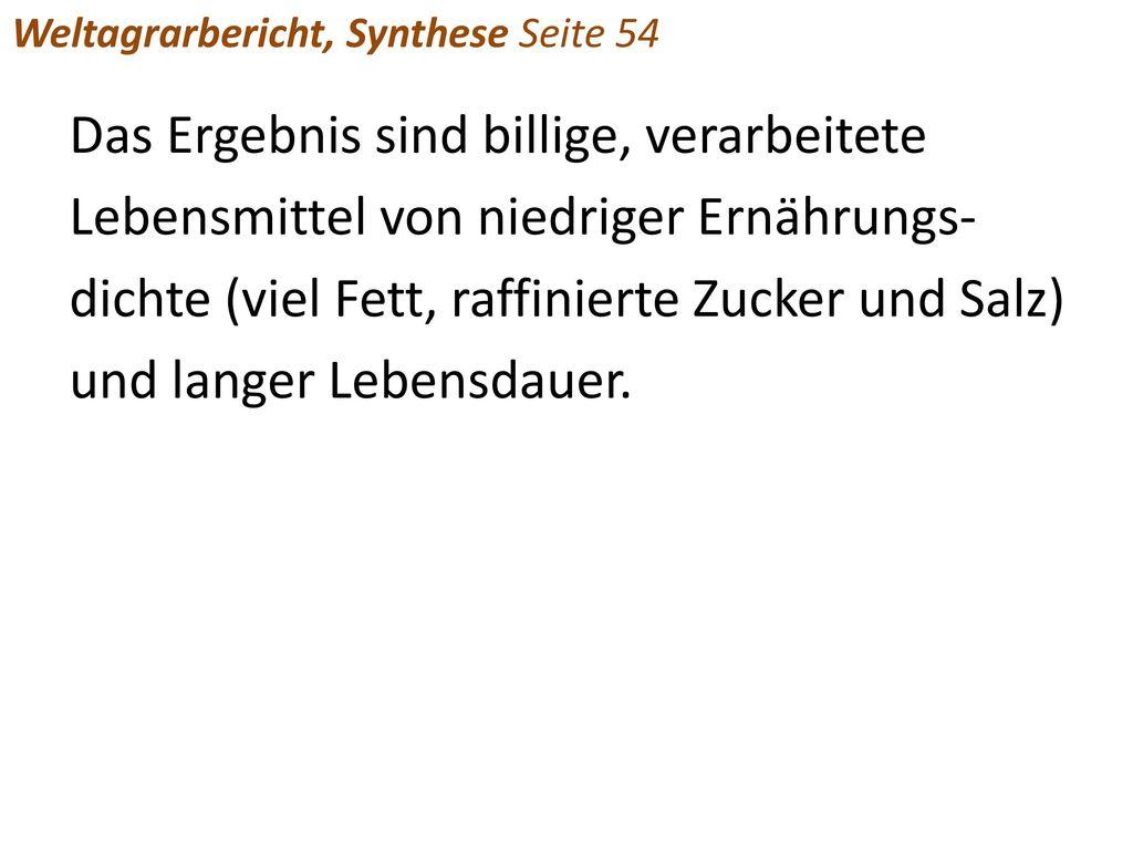 Weltagrarbericht, Synthese Seite 54