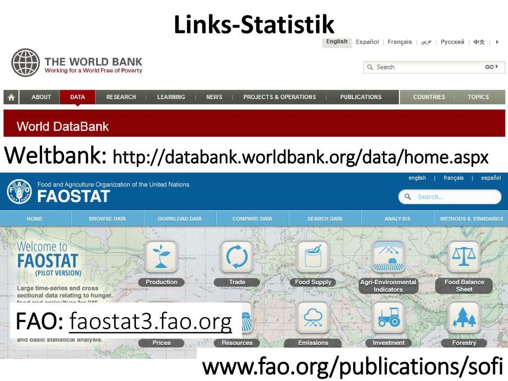 Links-Statistik Weltbank: http://databank.worldbank.org/data/home.aspx