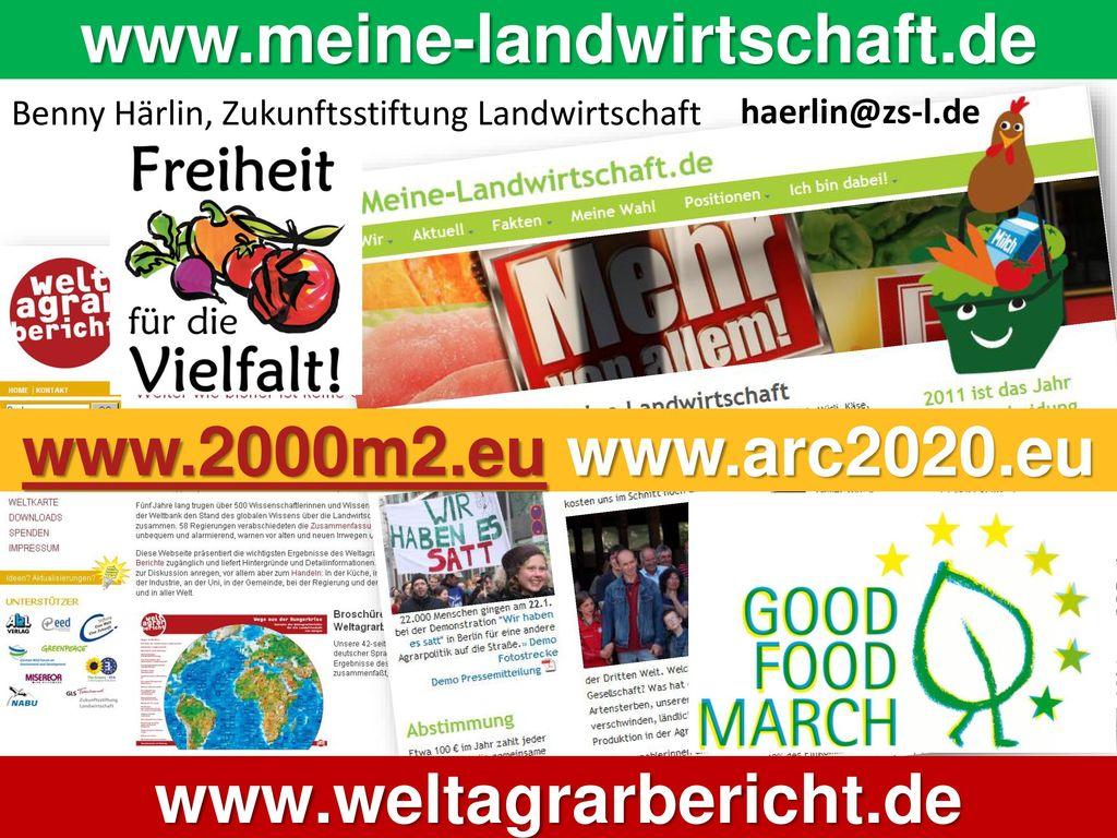 www.meine-landwirtschaft.de www.2000m2.eu www.arc2020.eu
