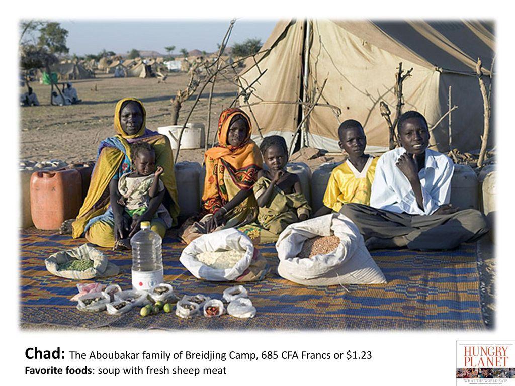 Chad: The Aboubakar family of Breidjing Camp, 685 CFA Francs or $1.23
