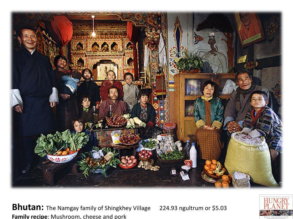 Bhutan: The Namgay family of Shingkhey Village 224. 93 ngultrum or $5