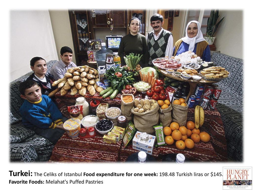 Turkei: The Celiks of Istanbul Food expenditure for one week: 198