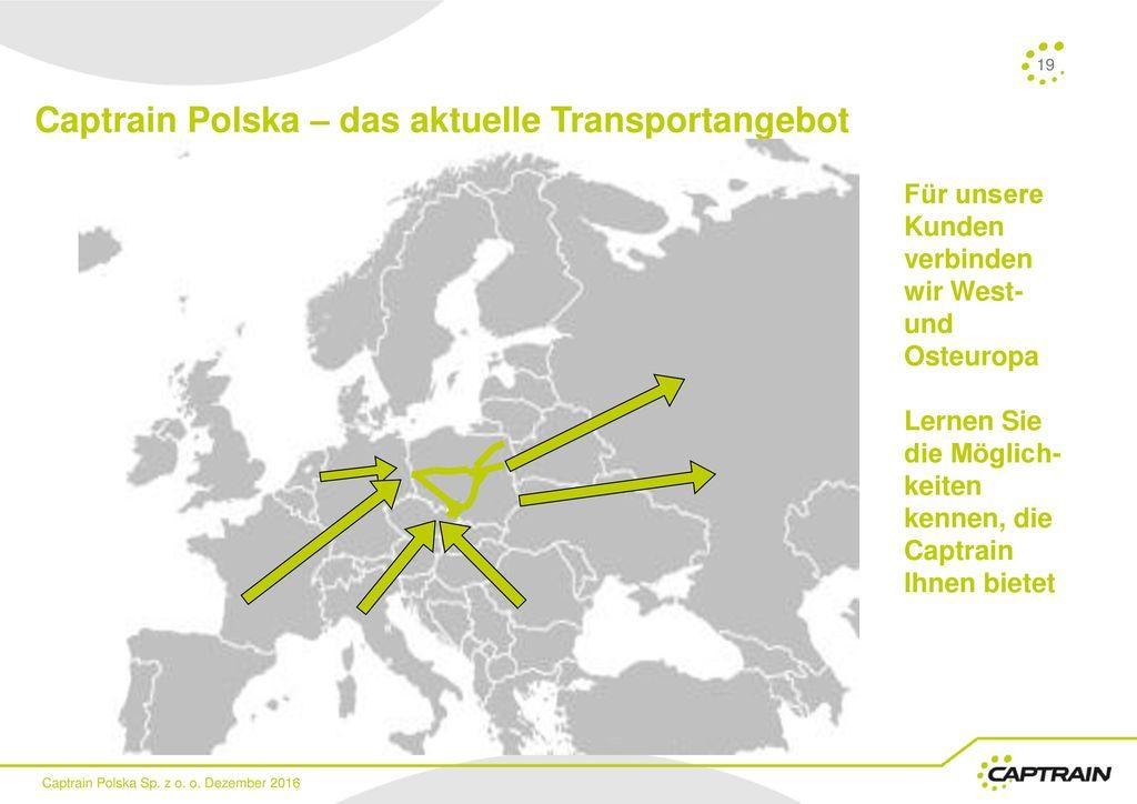 Captrain Polska – das aktuelle Transportangebot