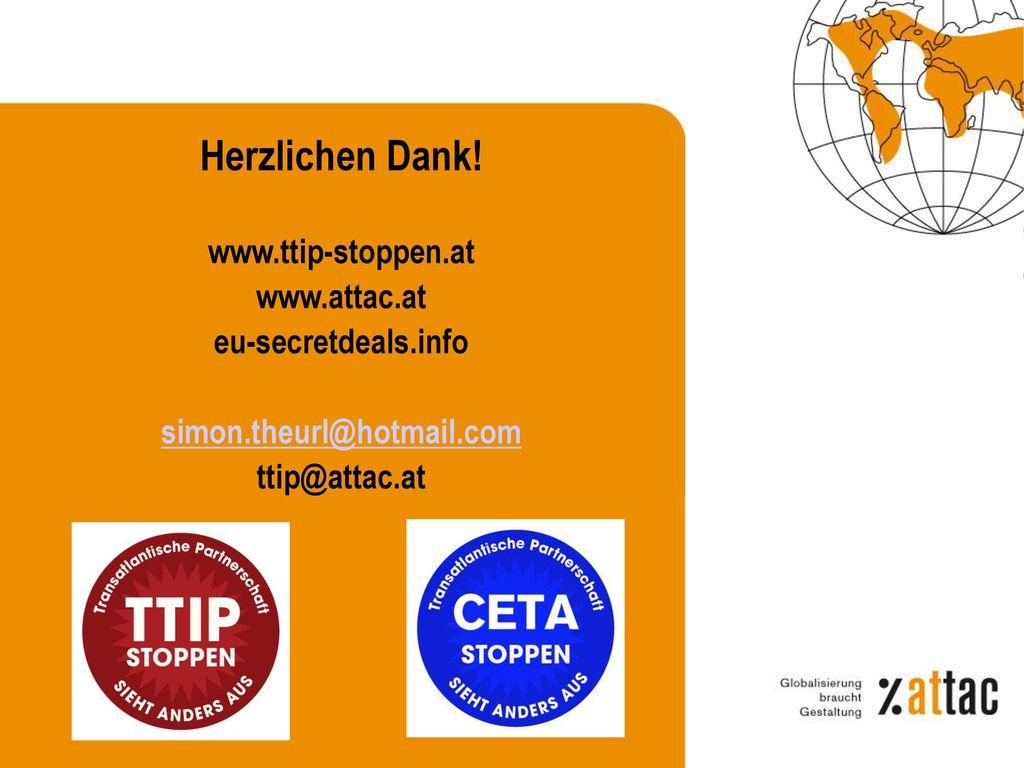 4) TTIP/CETA – Regulatorische Harmonisierung bzw. Äquivalenz