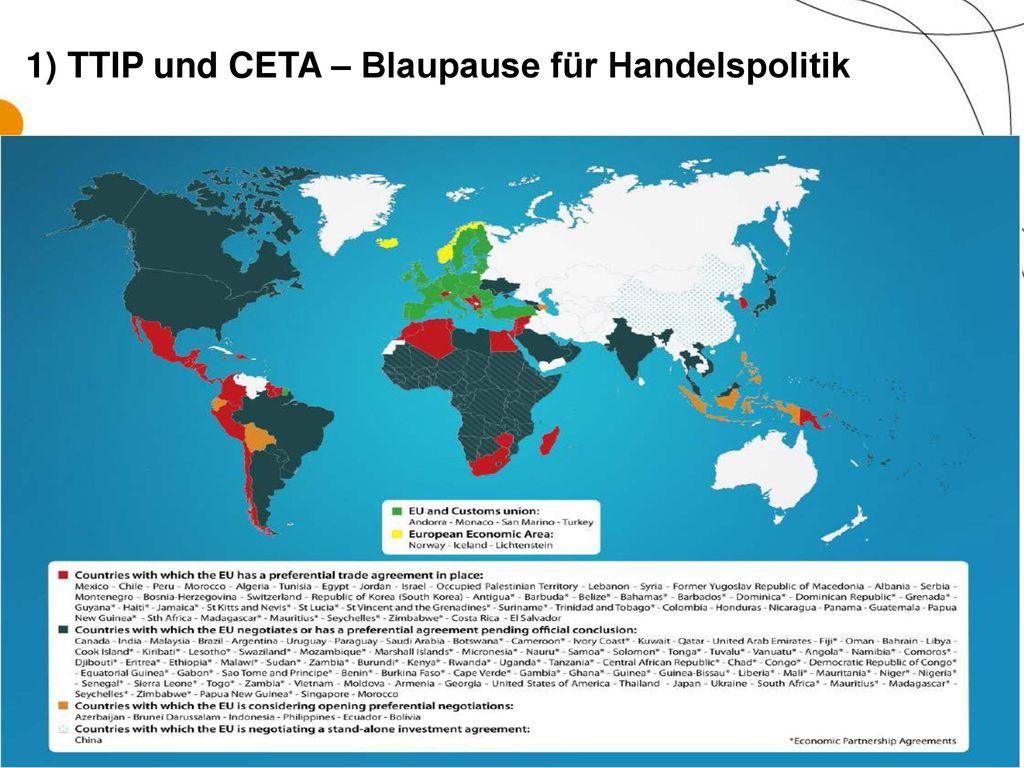 1) TTIP und CETA – Blaupause für Handelspolitik