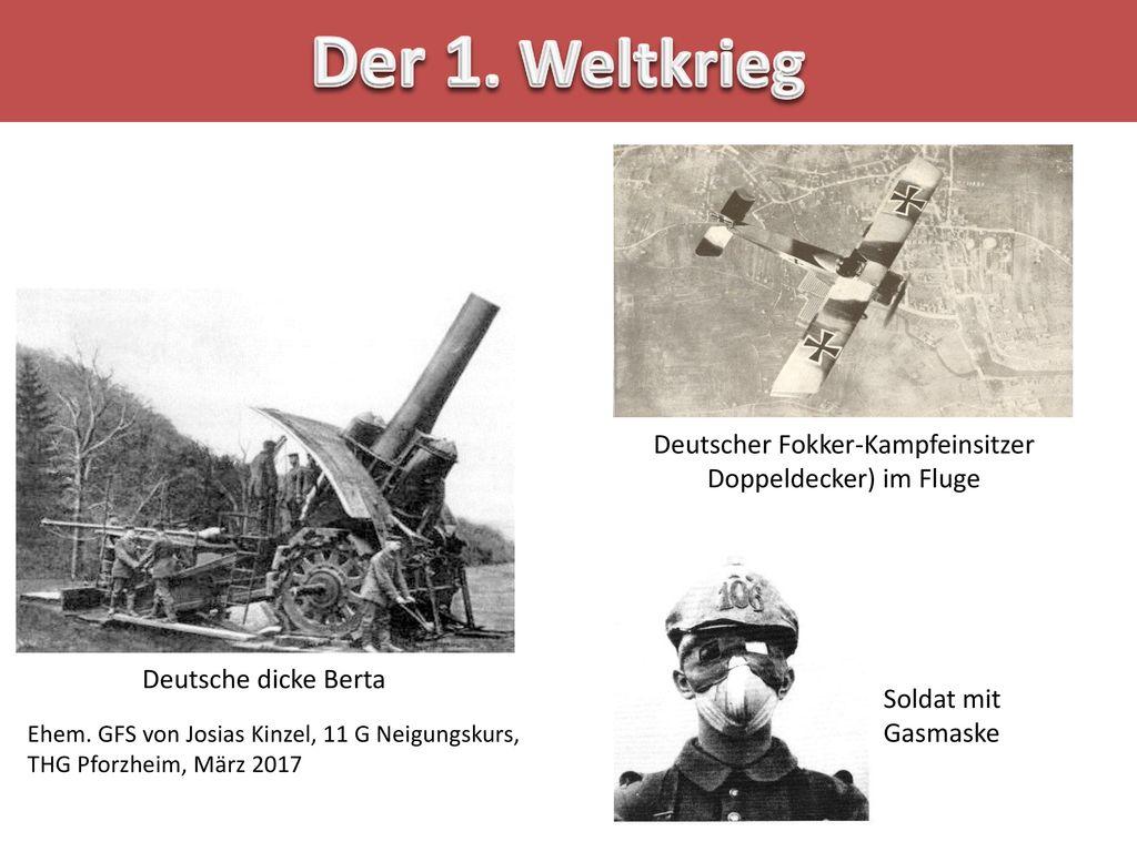 Deutscher Fokker-Kampfeinsitzer Doppeldecker) im Fluge