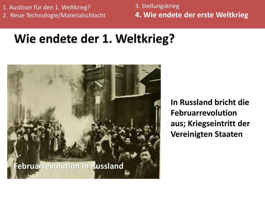 Wie endete der 1. Weltkrieg