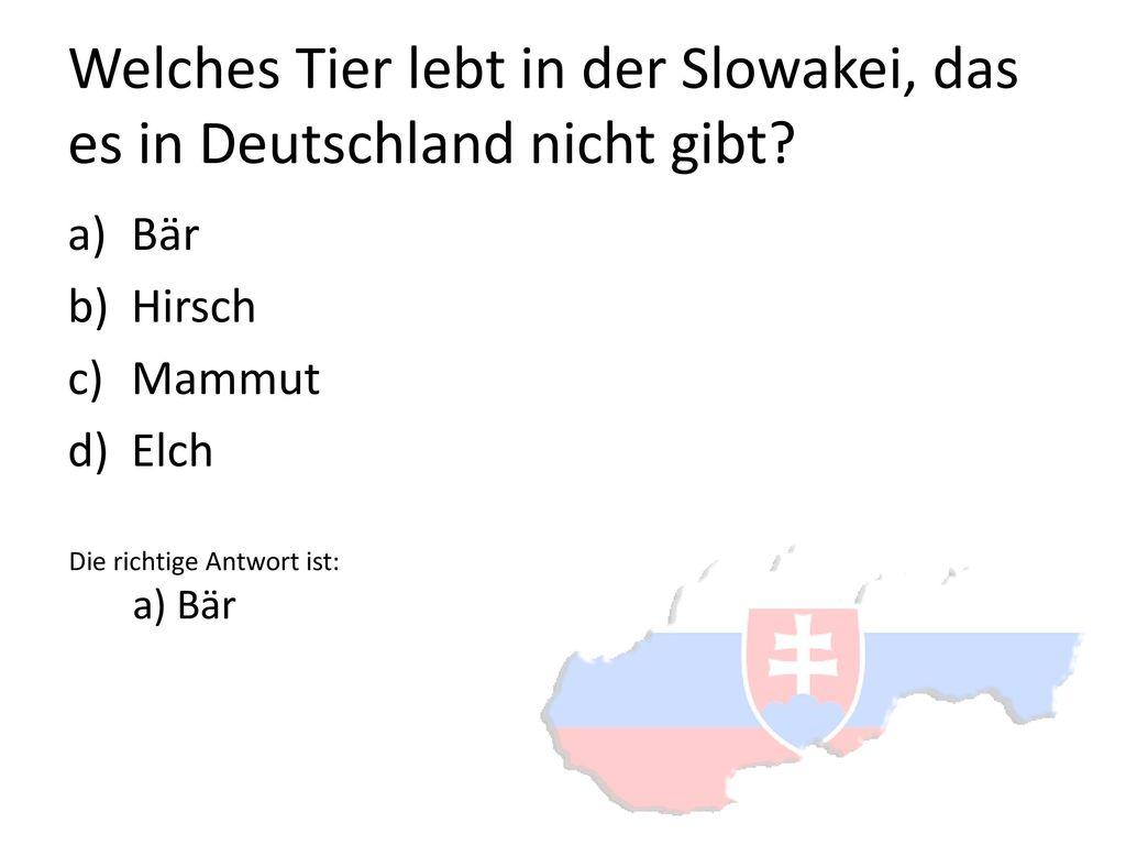 Welches Tier lebt in der Slowakei, das es in Deutschland nicht gibt