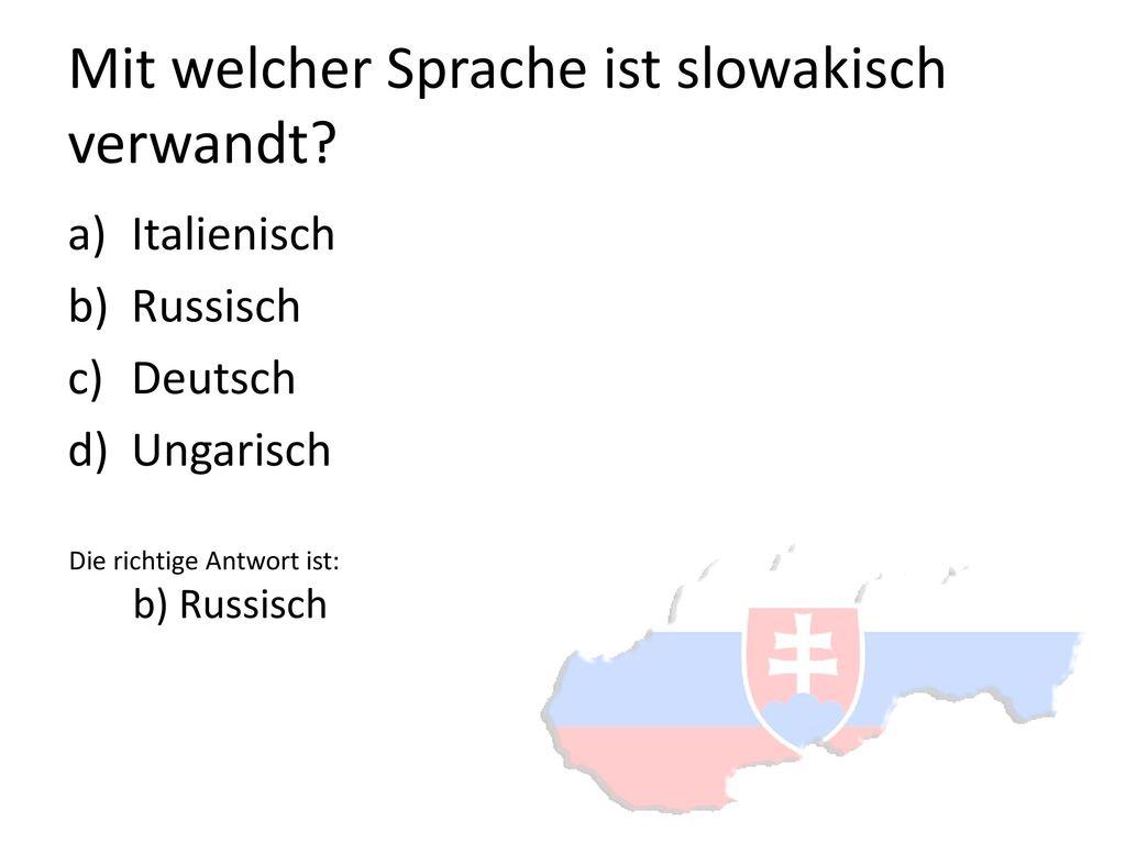 Mit welcher Sprache ist slowakisch verwandt