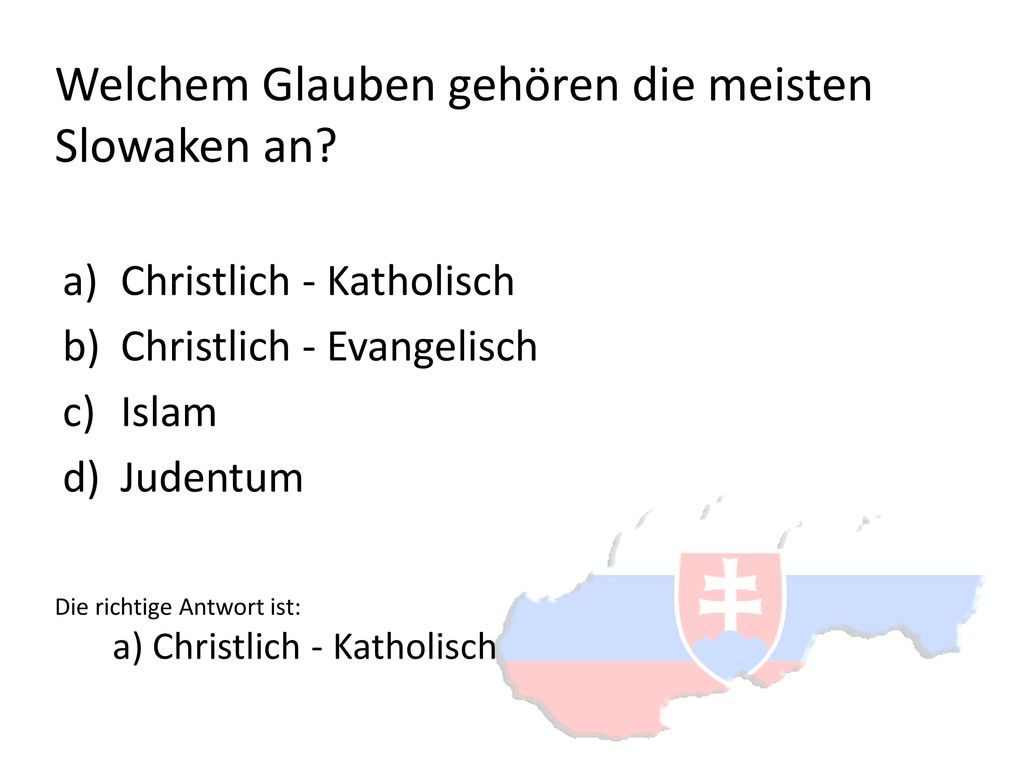 Welchem Glauben gehören die meisten Slowaken an