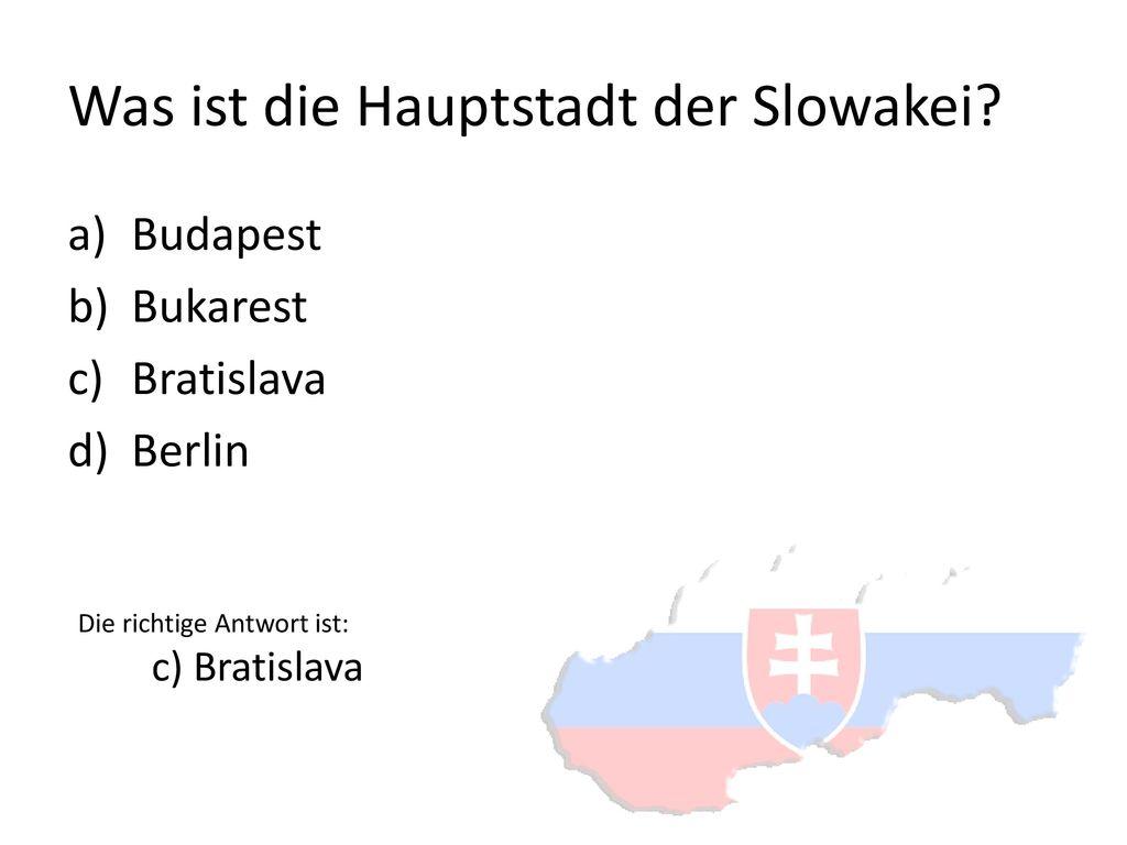 Was ist die Hauptstadt der Slowakei