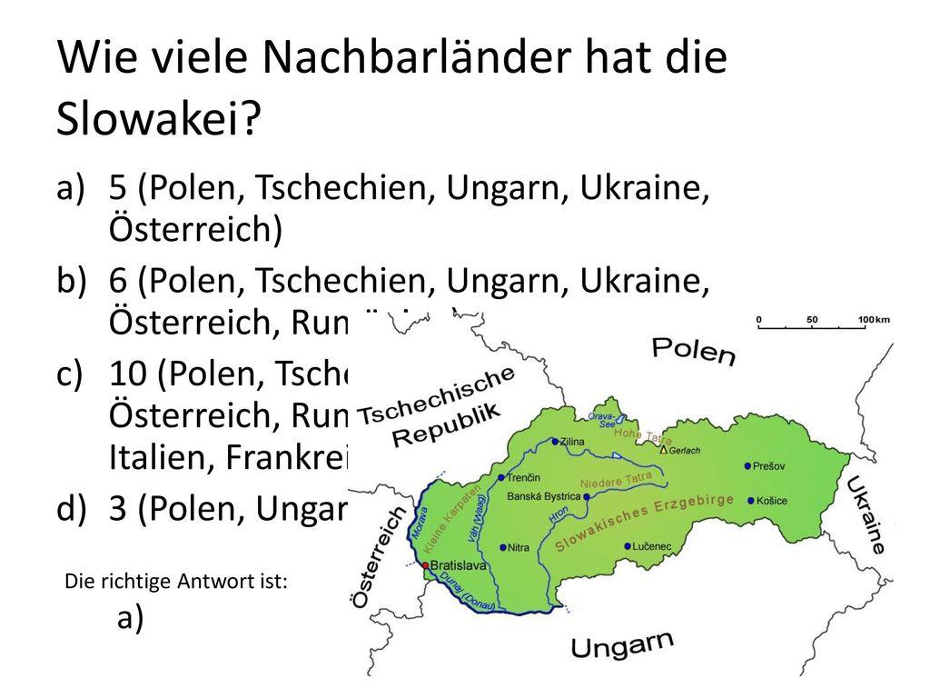 Wie viele Nachbarländer hat die Slowakei