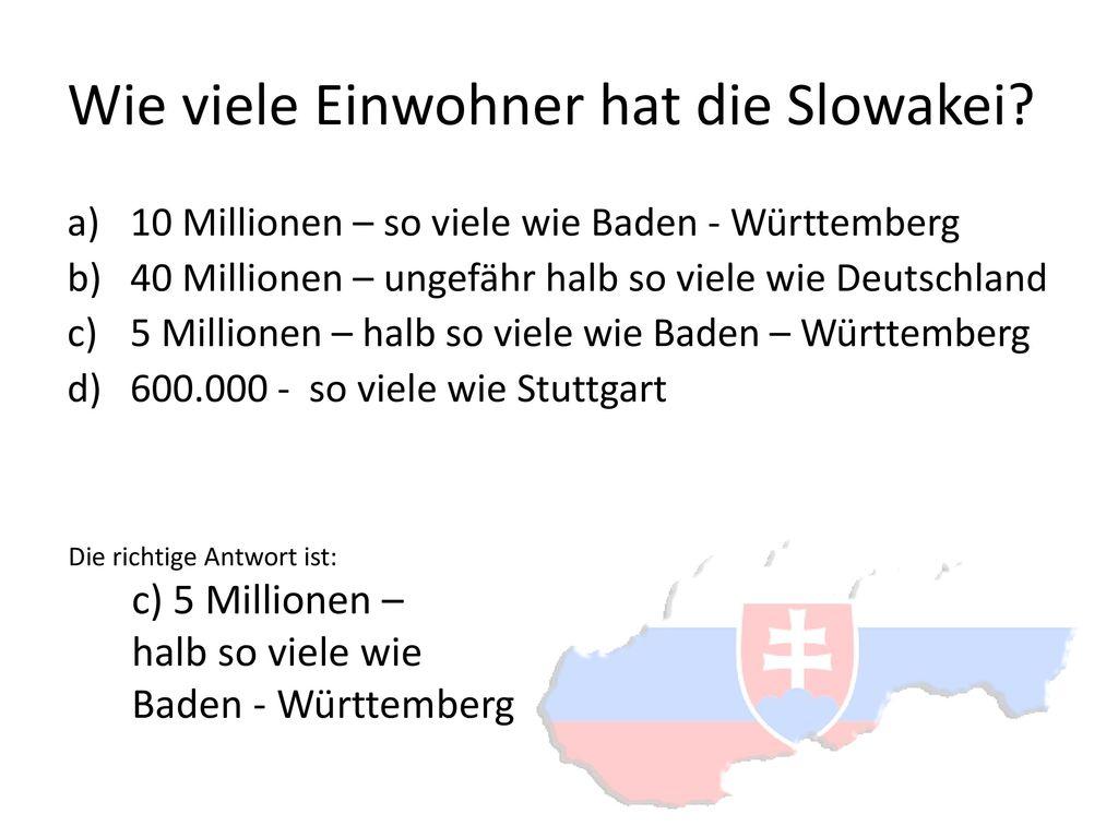 Wie viele Einwohner hat die Slowakei