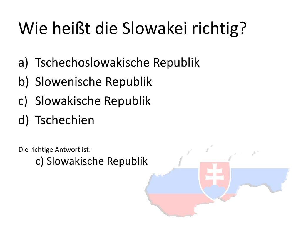 Wie heißt die Slowakei richtig