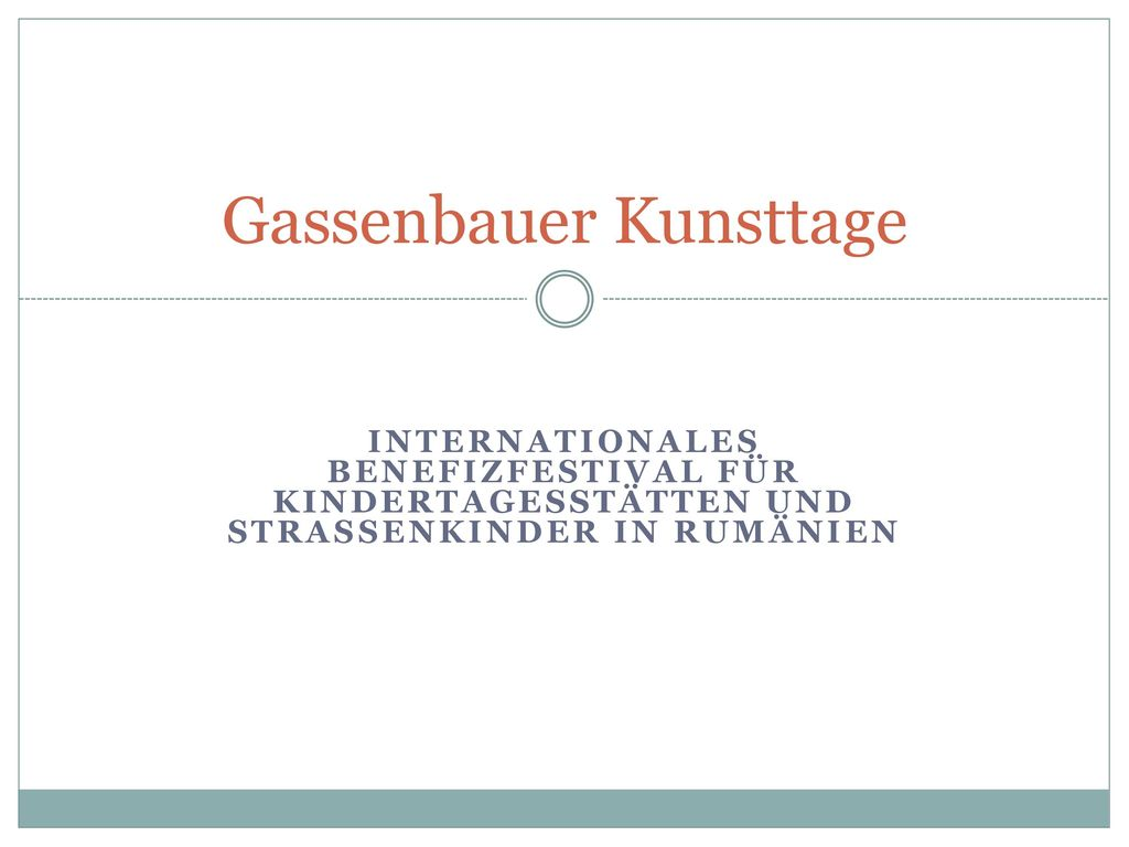Gassenbauer Kunsttage