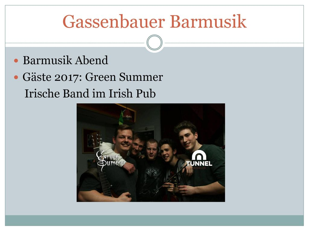Gassenbauer Barmusik Barmusik Abend Gäste 2017: Green Summer