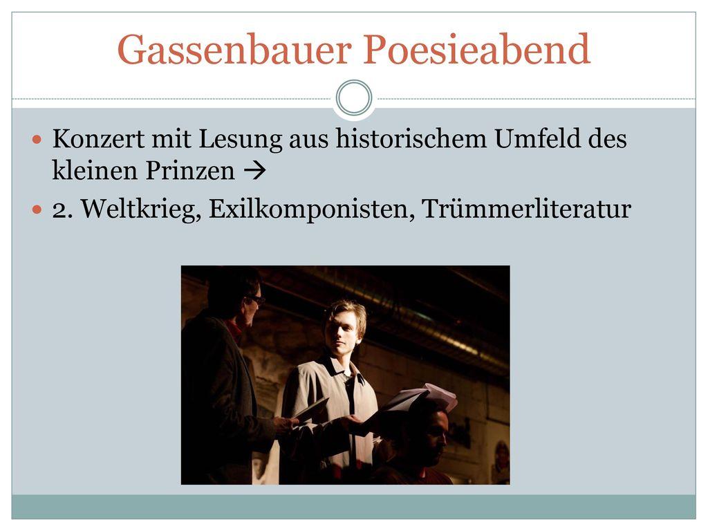 Gassenbauer Poesieabend