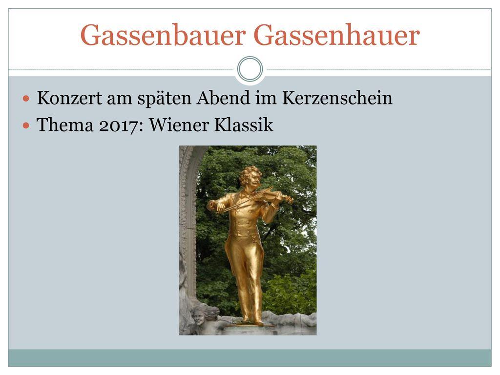 Gassenbauer Gassenhauer