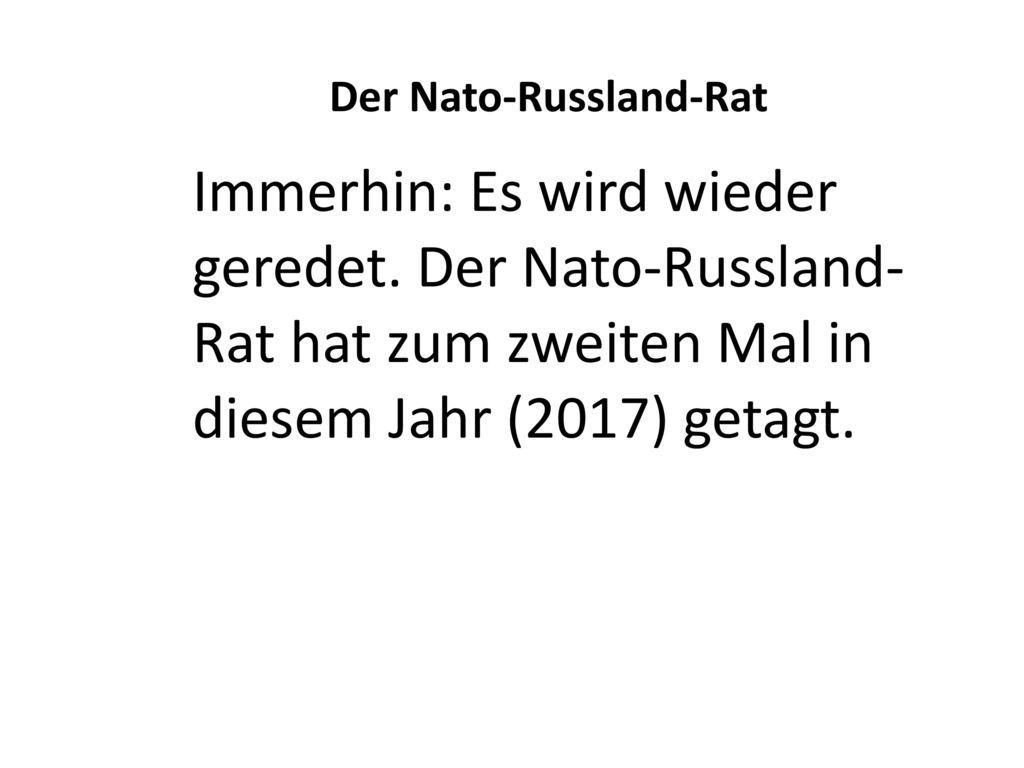 Der Nato-Russland-Rat