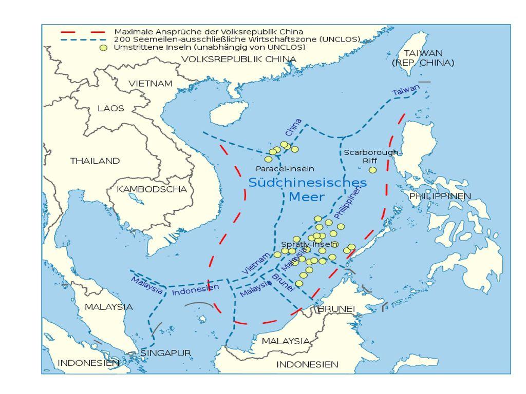 Das Seerechtsübereinkommen der Vereinten Nationen, trat 1994 in Kraft