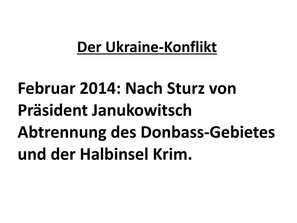 Februar 2014: Nach Sturz von Präsident Janukowitsch