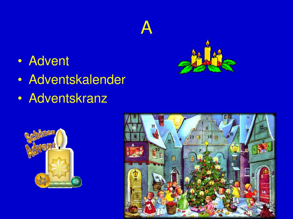 A Advent Adventskalender Adventskranz