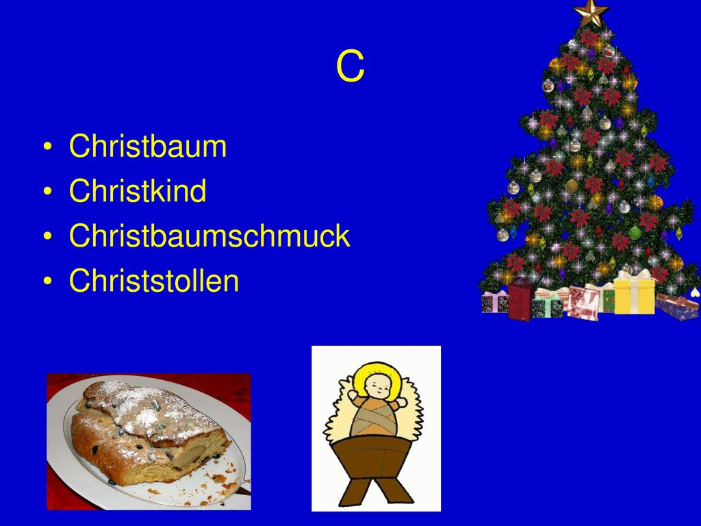 C Christbaum Christkind Christbaumschmuck Christstollen