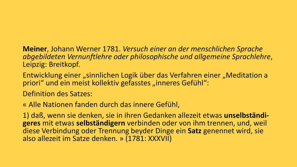 Meiner, Johann Werner 1781.