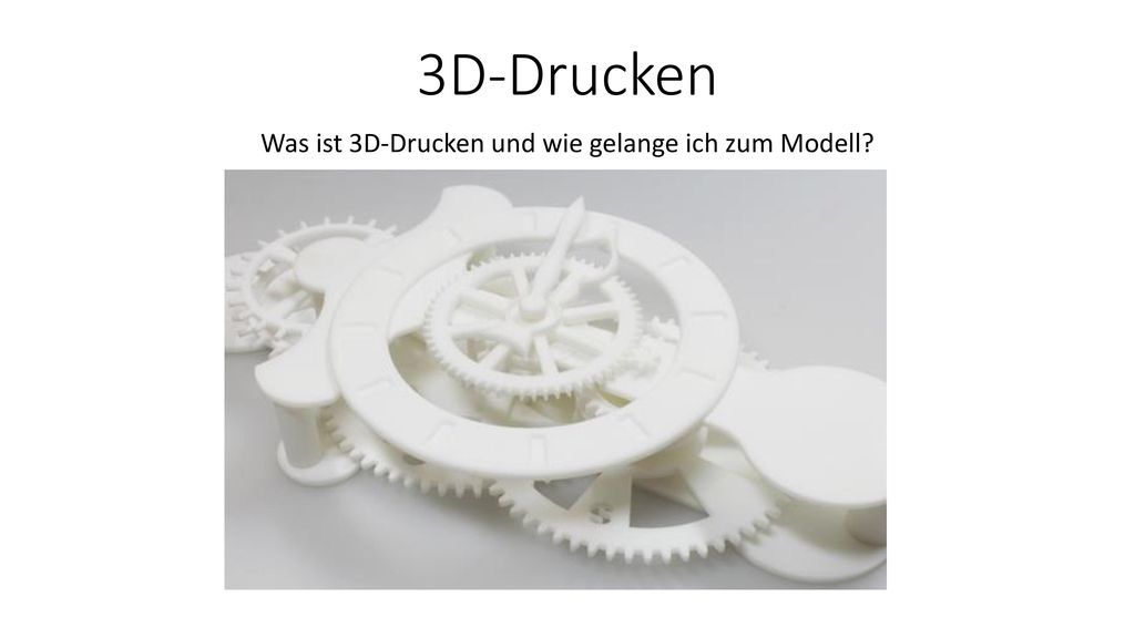 Was ist 3D-Drucken und wie gelange ich zum Modell
