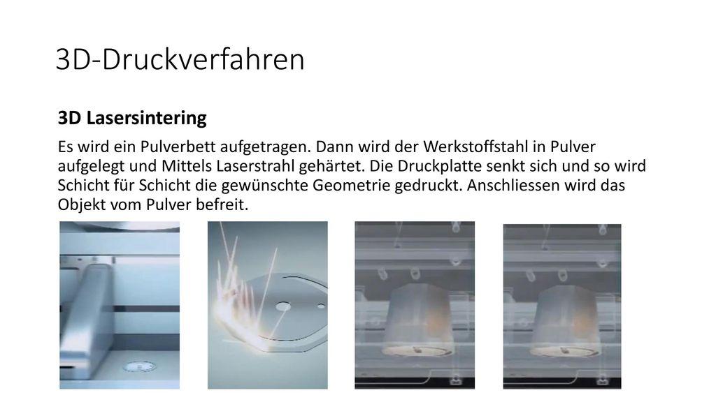 3D-Druckverfahren 3D Lasersintering