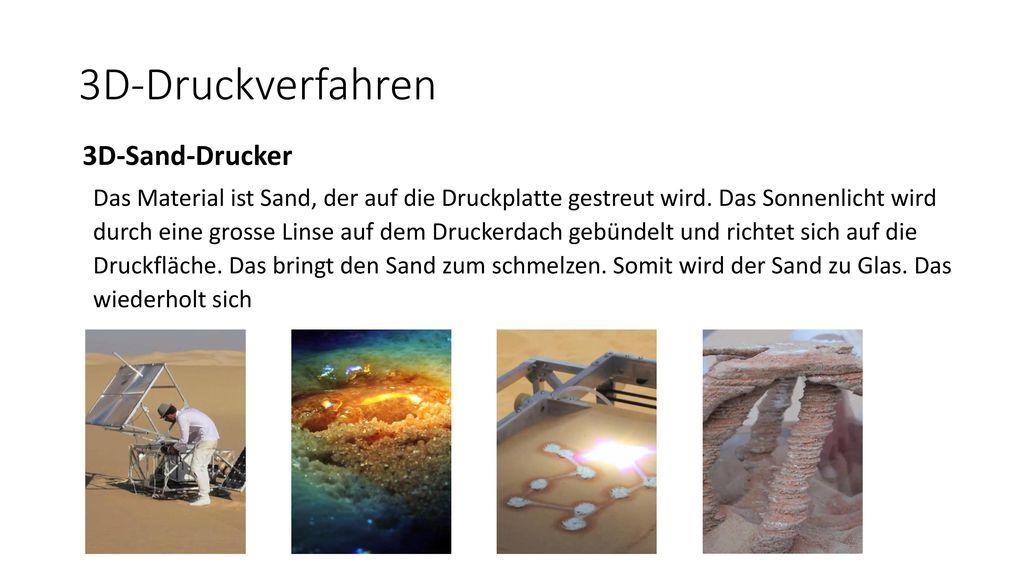 3D-Druckverfahren 3D-Sand-Drucker