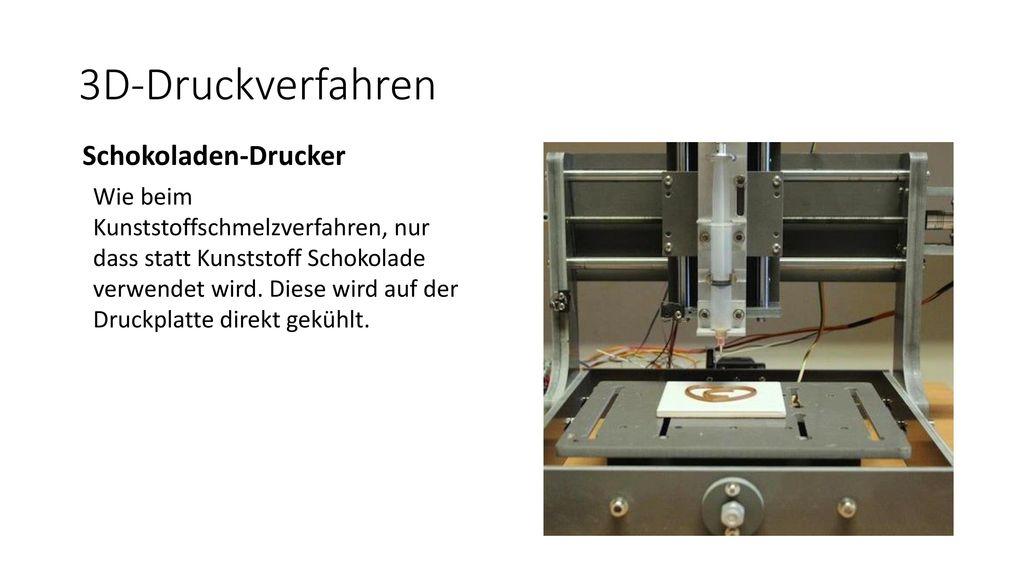 3D-Druckverfahren Schokoladen-Drucker