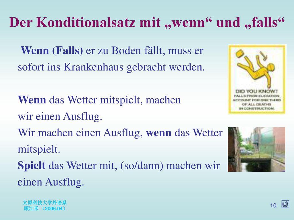 """Der Konditionalsatz mit """"wenn und """"falls"""