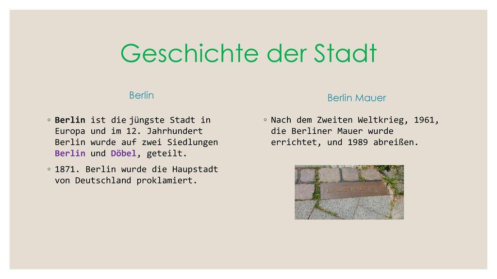 Geschichte der Stadt Berlin Berlin Mauer