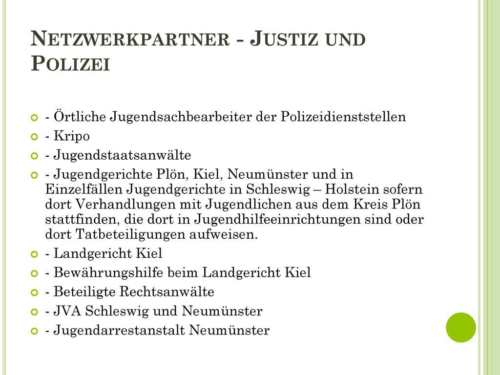 Netzwerkpartner - Justiz und Polizei