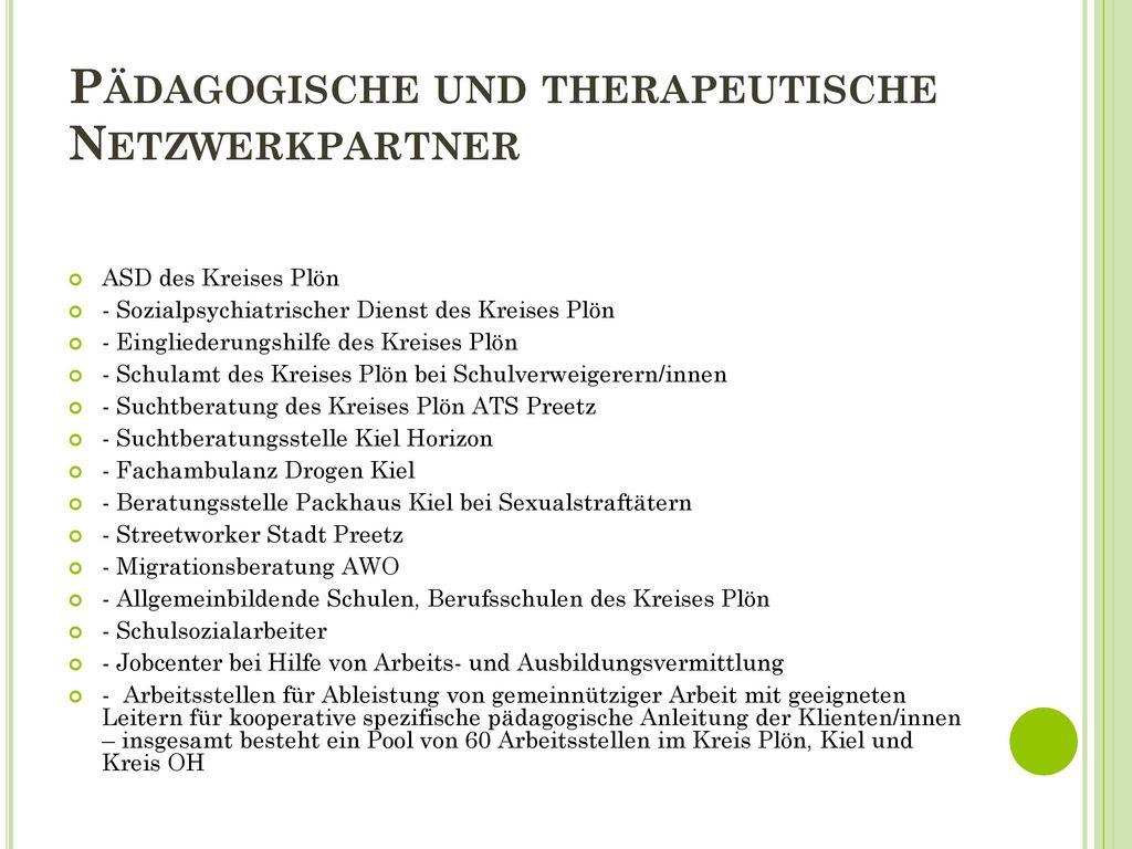 Pädagogische und therapeutische Netzwerkpartner