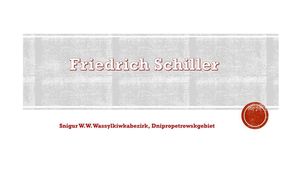 Friedrich Schiller Snigur W.W. Wassylkiwkabezirk, Dnipropetrowskgebiet