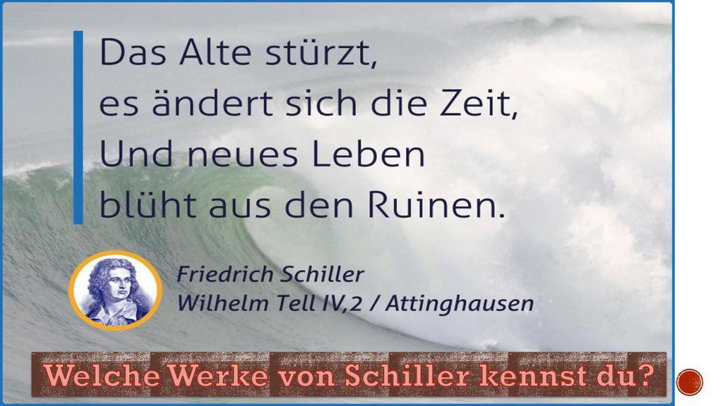 Welche Werke von Schiller kennst du