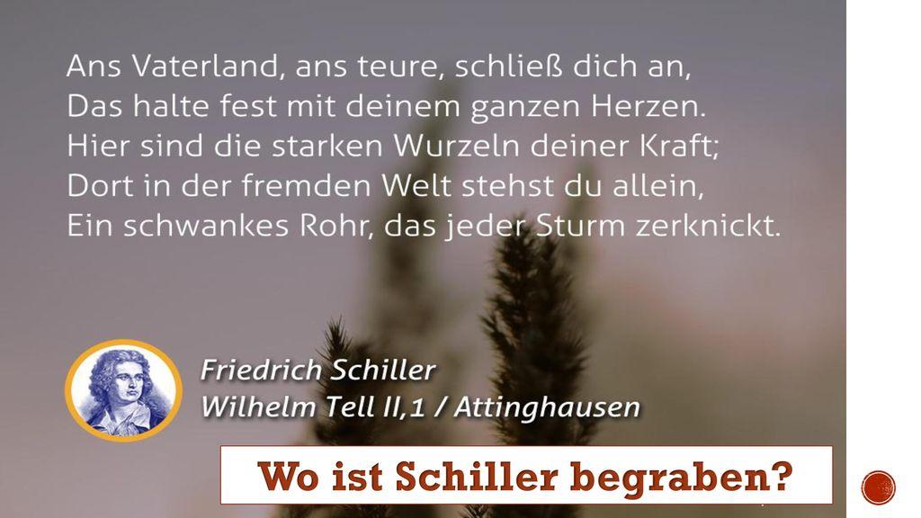 Wo ist Schiller begraben