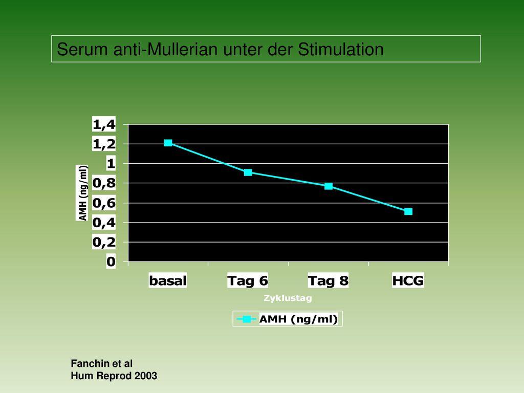 Serum anti-Mullerian unter der Stimulation