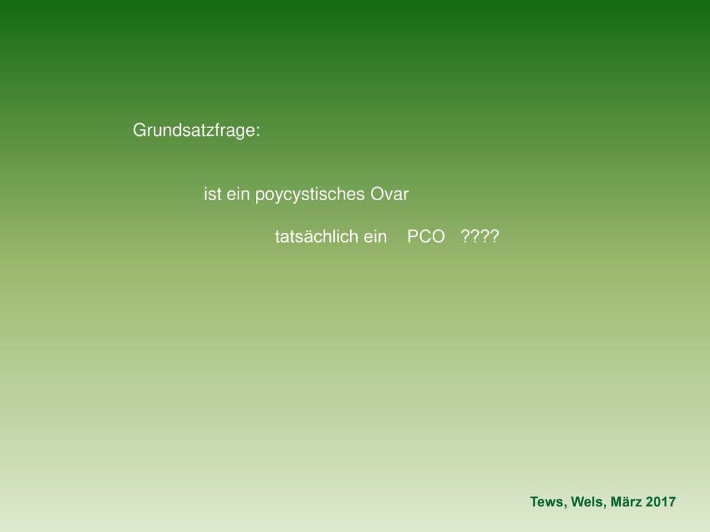 ist ein poycystisches Ovar tatsächlich ein PCO