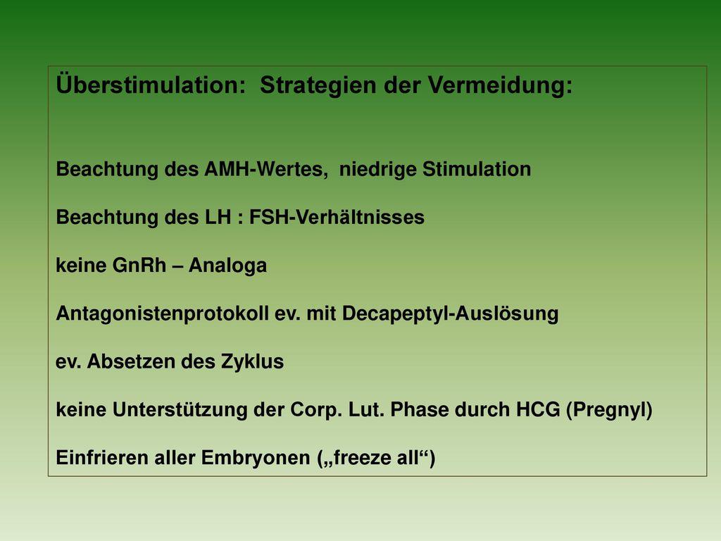 Überstimulation: Strategien der Vermeidung: