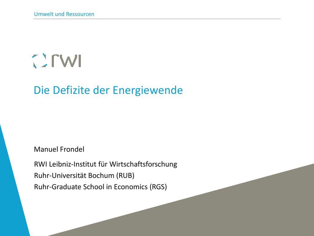 Die Defizite der Energiewende