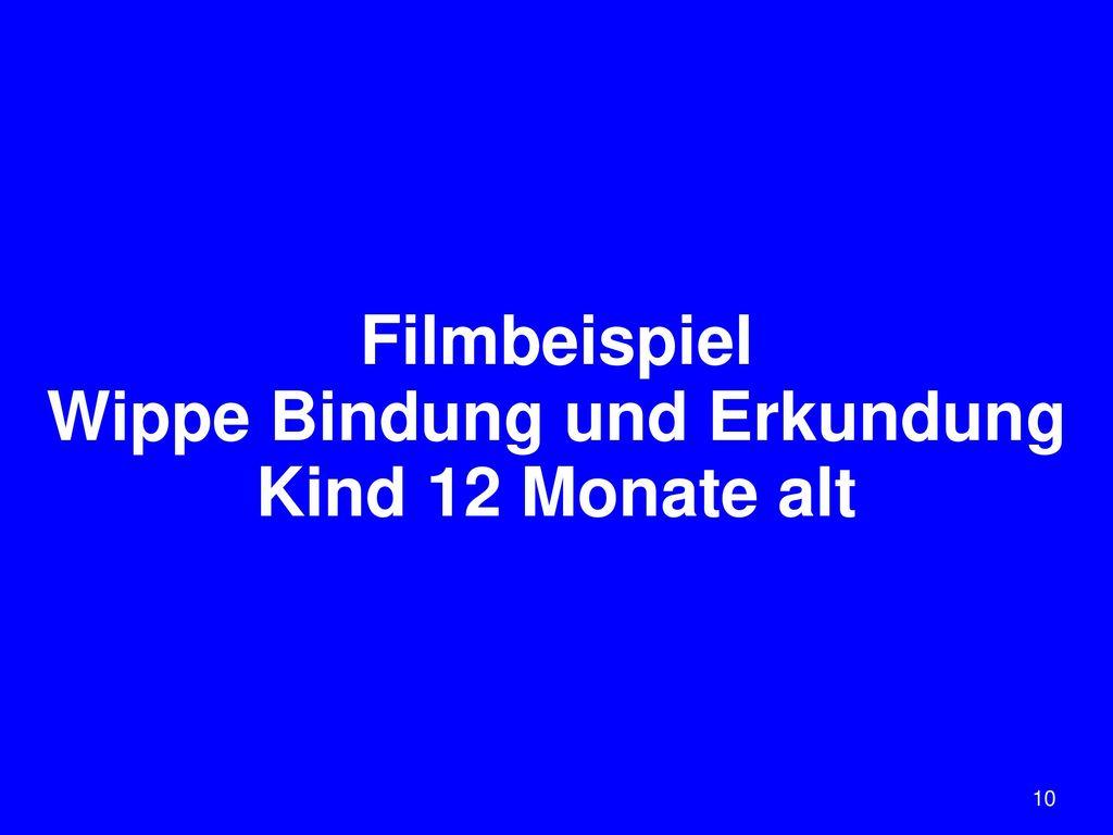 Filmbeispiel Wippe Bindung und Erkundung Kind 12 Monate alt