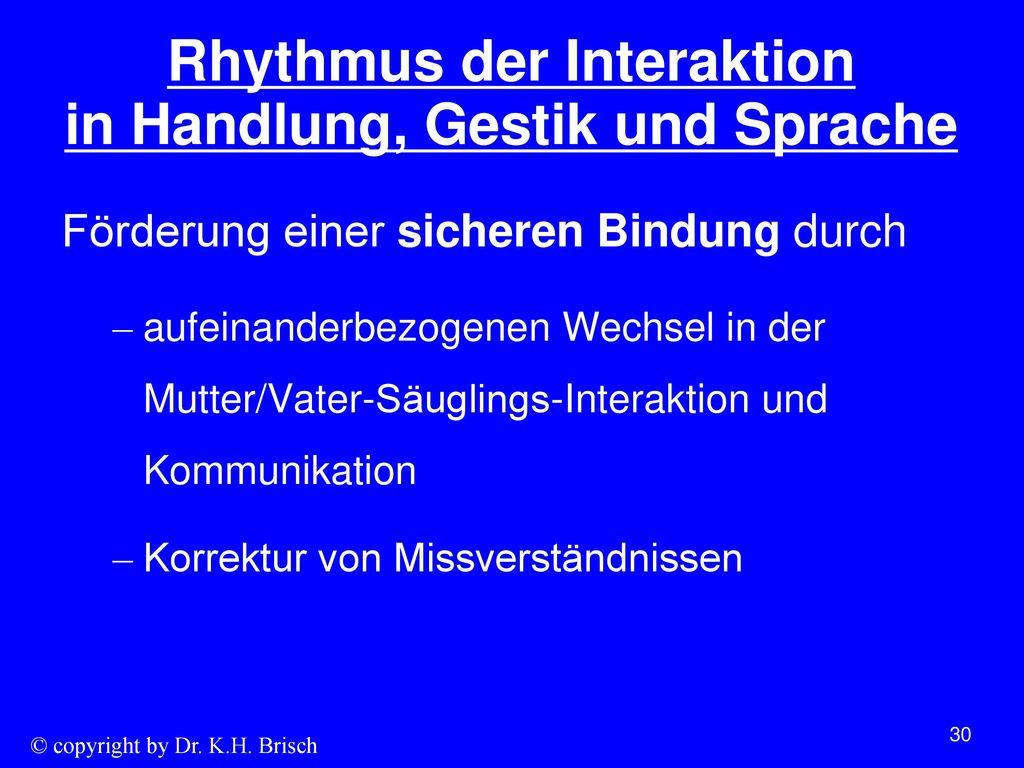 Rhythmus der Interaktion in Handlung, Gestik und Sprache