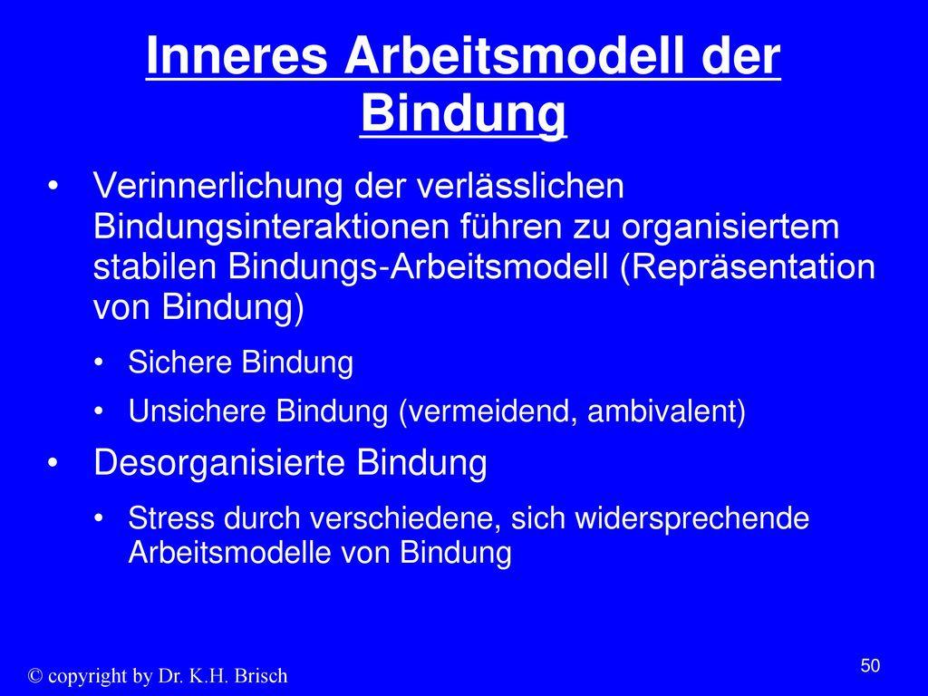 Inneres Arbeitsmodell der Bindung