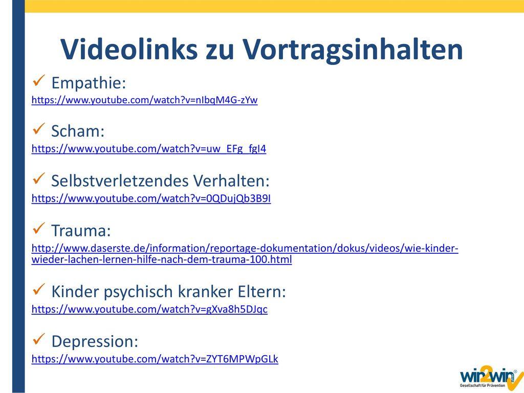 Videolinks zu Vortragsinhalten